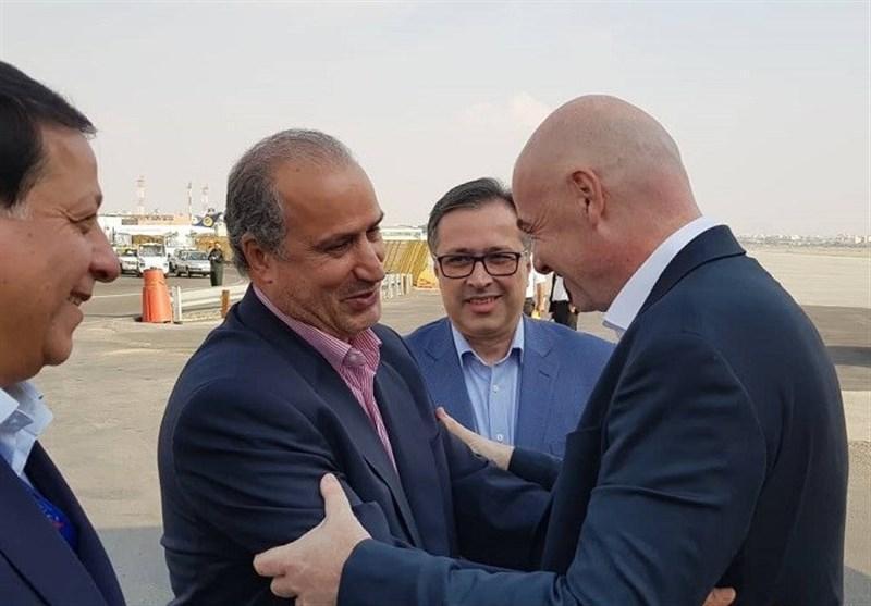 اینفانتینو وارد تهران شد