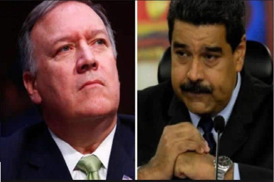 پیغام توئیتری پمپئو علیه ونزوئلا