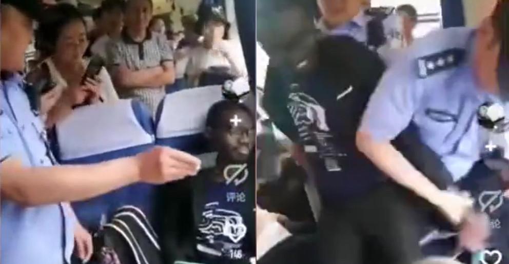 اقدام عجیب توریست خارجی در قطار مسافربری چین!