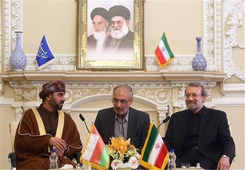 مذاکرات دو جانبه لاریجانی با رئیس مجلس شورای سلطنت عمان
