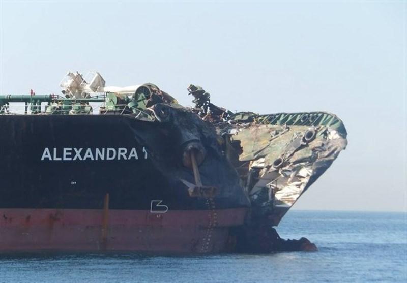 جزئیات برخورد کشتی غول پیکر ایرانی با کشتی کانتینری در سنگاپور