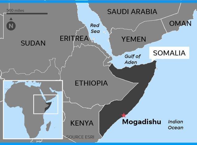 حمله الشباب به کاروان نظامی اروپایی ها و پایگاه آمریکا در موگادیشو