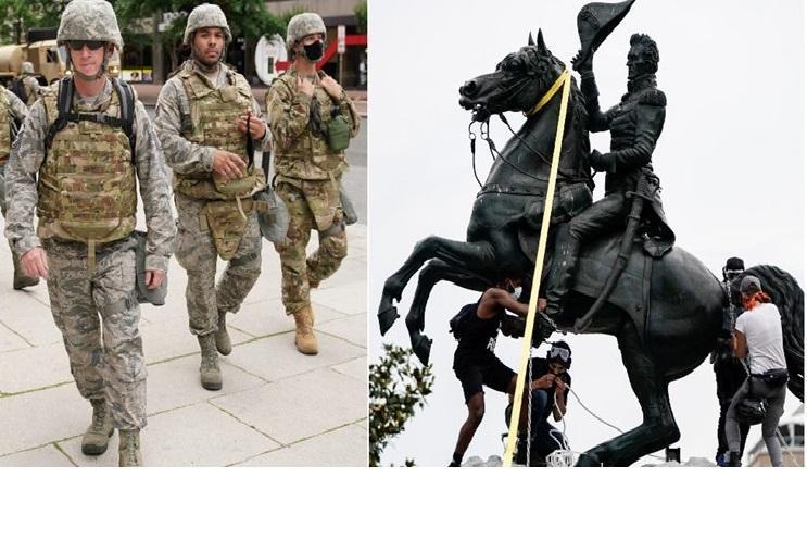 نیروهای گارد ملی آمریکا در واشنگتن به حالت آماده باش درآمدند