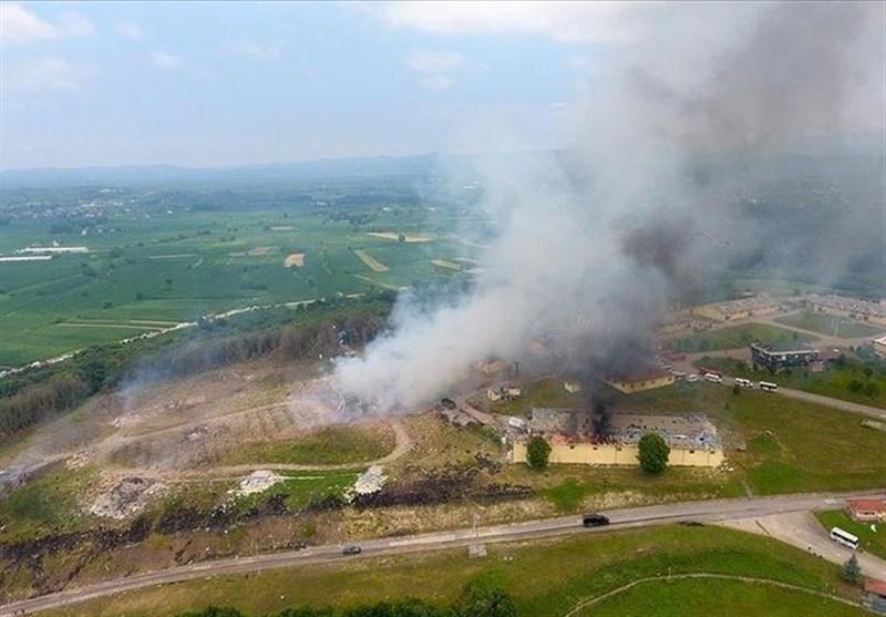 انفجار در کارخانه مواد محترقه در ترکیه؛ 73 مجروح و 2 کشته تا به امروز