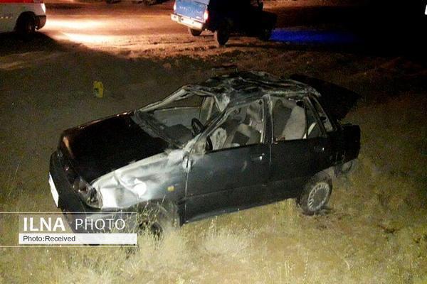 کشته شدن یک نفر بر اثر برخورد پراید با تریلر در شهرستان بوئین زهرا