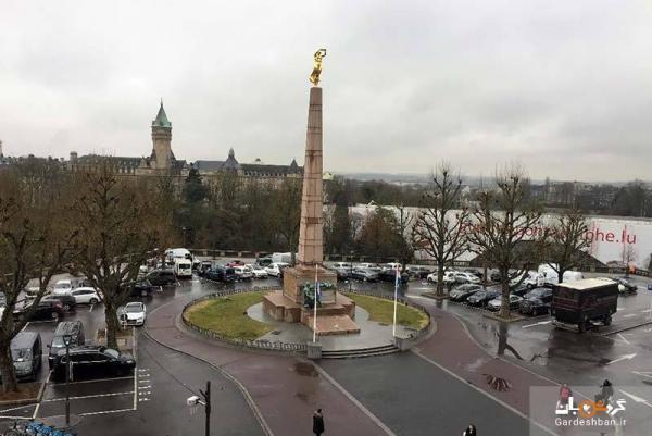 مجسمه بانوی طلایی، یادمان اشک ها و دلاوری ها در لوکزامبورگ، عکس