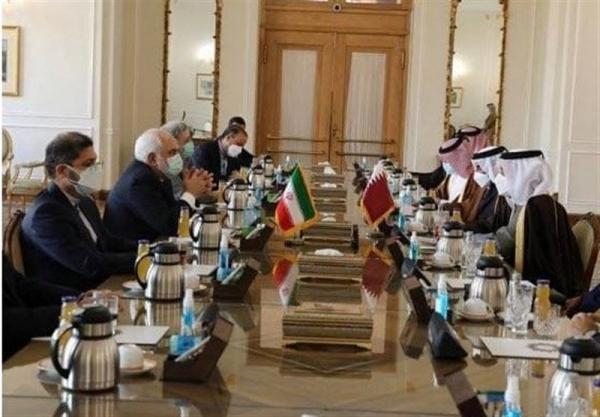 ملاقات ظریف و همتای قطری در تهران