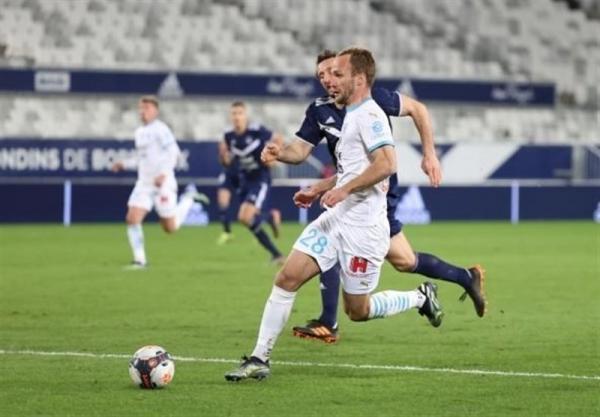 لوشامپیونه، مارسی با 9 بازیکن از بوردو امتیاز گرفت