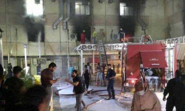 آتش به جان بیماران کرونایی بغداد